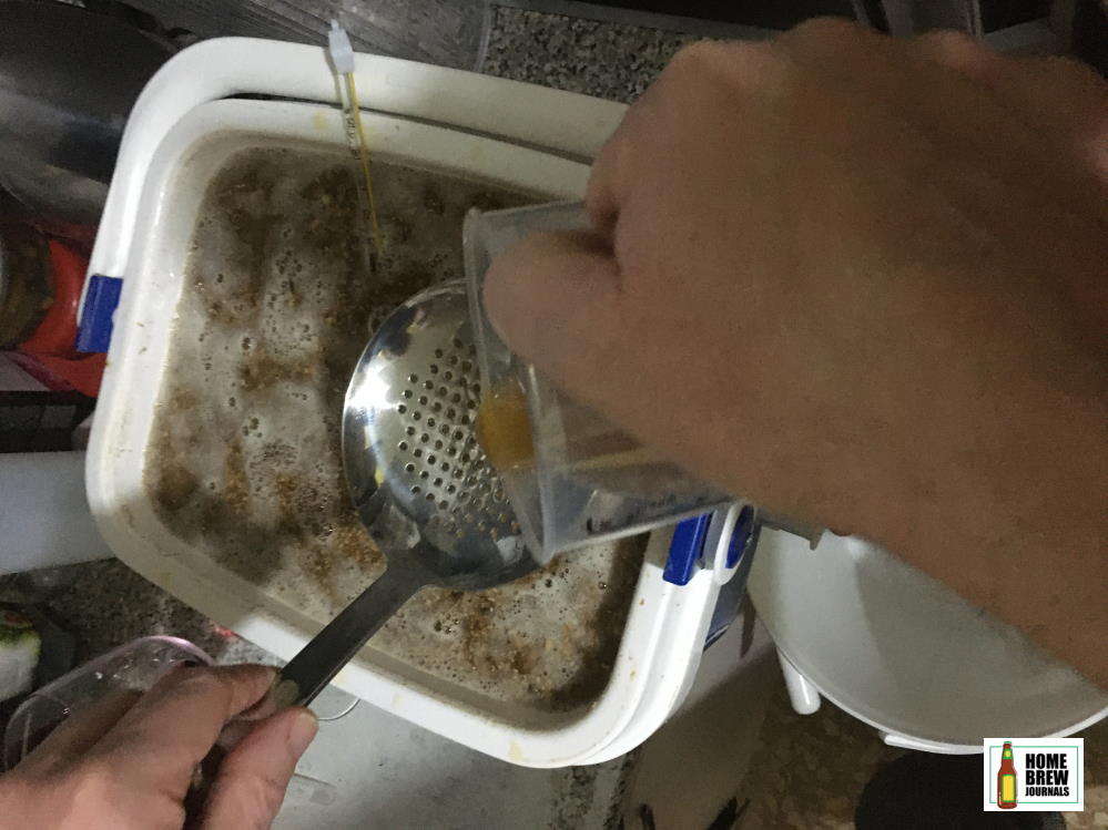Rinsing the mash helps improve brewing efficiency